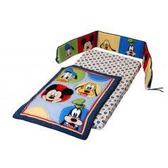 Mickey Mouse 3-Piece Crib Bedding Set, baby nursery bedding. $89.99. #home decor #bedroom #bedding #baby #crib #disney