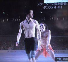 Shirtless Yuzuru and Meryl Davis