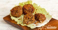 Vegane Hackbällchen selber machen: so gelingen Köttbullar aus Linsen Meat Recipes, Vegetarian Recipes, Veggies, Beef, Snacks, Food, Carp, Smoothies, Vegetarian Food