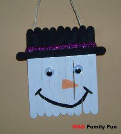 crafts snowman with popsicle sticks - Yahoo Search Results Yahoo Image Search Results Snowman Crafts, Craft Stick Crafts, Diy And Crafts, Crafts For Kids, Craft Ideas, Preschool Ideas, Fun Ideas, Christmas Love, Winter Christmas
