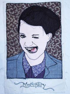 Stitched self portrait, AS Art