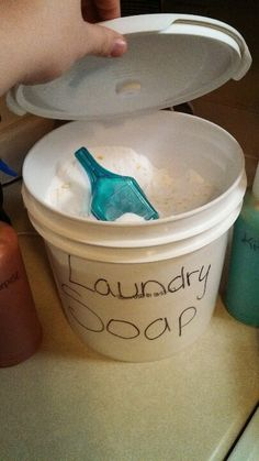 Homemade Lavender scented laundry soap, it really works wonders in cleaning all my cloths and leaving a wonder after scent, witch is hard to find for my family with my three kids and a husband, we call it the super duper laundry wash.