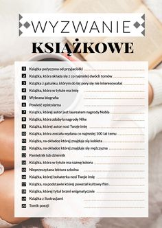 wyzwanie książkowe Book Challenge, Reading Challenge, Books To Read, My Books, Everything And Nothing, Journal Inspiration, Self Improvement, Book Lovers, Book Worms