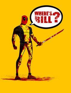 """Deadpool/Kill Bill"" Um, should I be worried?"