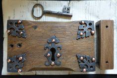 Gothic Reclaimed Wooden & Cast iron Church Castle Rim Lock Key Keep – DragonQuarry Antiques & Restoration