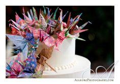 cranes on cake