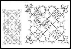 Tatting pattern to try - would like to try this once. Bracelet Tatting, Tatting Armband, Tatting Jewelry, Tatting Lace, Shuttle Tatting Patterns, Needle Tatting Patterns, Stitch Patterns, Crochet Patterns, Drawing Tutorials For Kids