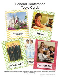 """General Conference """"Go Fish!"""" free printable cards"""