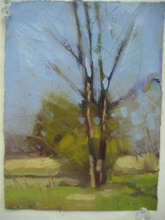 ©Frank Hobbs: Delaware County, Spring, oil on primed rag paper, 7 x 5 in. Private Collection.