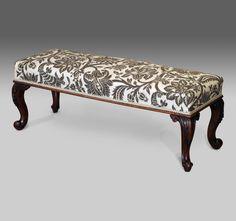 Antique mahogany duet stool