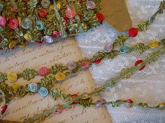 Unique Vintage or Antique French RoCoCo ribbon by VintageTidbit