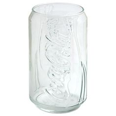 Clear Coke can glass - 3.99 on the Coco Cola store website. I want these!!