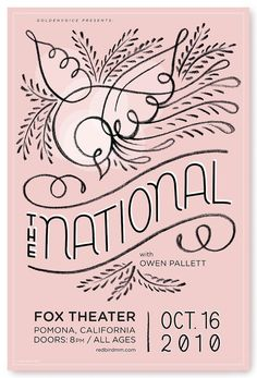 Poster for the National