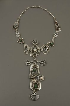 Necklace |  Orville Chatt.  c. 1965  This is so me.