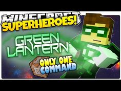 Minecraft | How To Be A Superhero! | GREEN LANTERN! | Only One Command (One Command Creation) - YouTube