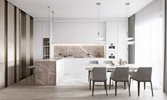 Luxury Interior Design Using A Neutral Palette Luxury Homes Interior, Luxury Home Decor, Interior Architecture, Luxury Furniture, Furniture Design, Bedroom Furniture, Bathroom Design Luxury, Küchen Design, Design Trends