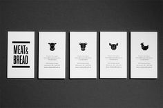 Meat & Bread #Business #Card #Stationery #Branding