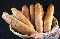 Recept Voňavé domácí špaldové rohlíky Hot Dog Buns, Hot Dogs, Bread And Pastries, How To Make Bread, Bread Making, Sweet Potato, Sausage, Food And Drink, Gluten Free