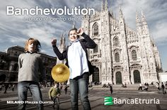 #Milano, Piazza Duomo: Banchevolution - Il futuro al centro dell'azione (2014).