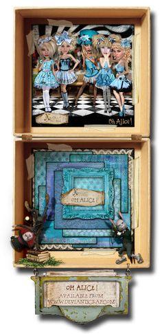 Why so Blue? Decorative Boxes, Alice, Frame, Home Decor, Picture Frame, A Frame, Interior Design, Frames, Home Interior Design