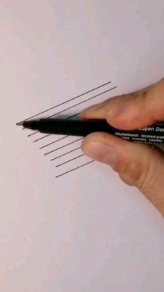 Sharpie Drawings, Trippy Drawings, Cool Art Drawings, Art Drawings Sketches, Easy Drawings, Realistic Pencil Drawings, Pencil Art Drawings, Drawing Challenge, Art Challenge