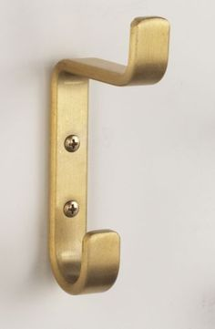 Opentip.com: Glaro Wall Hook, 1 Double Hook Satin Brass, H12BE