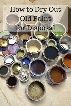 Do you have a shelf full of old paint that you need to get rid of? I have a safe and easy way to dry out old paint for disposal!