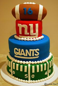 An http://www.GogelAutoSales.com RePin     The Baking Sheet: 3-Tier New York Giants Football Cake!!     We'd Love you to Like us on FB! https://www.facebook.com/GogelAuto  Since 1962, Rt. 10, East Hanover
