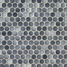 $3.59 sq ft  Dark Gray II Penny Porcelain Mosaic - 10 x 12 - 100104652   Floor and Decor