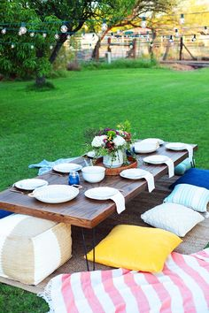 Low height outdoor dining table, featured on NONAGON.style