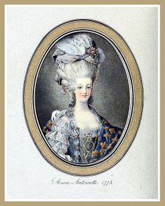 Hats by Madame Bertin 1775 - Portrait of Marie Antoinette by CharmaineZoe, via Flickr