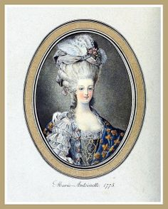 Hats by Madame Bertin 1775 - Portrait of Marie Antoinette by CharmaineZoe, via Flickr