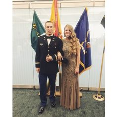 Jenna attending Military Ball in Austin Texas with J.S.