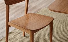 The Currant dining chair measures 20″ wide, 23″ deep and 31 3/4″ high. Available in your choice of honey-toned caramelized bamboo, Black Walnut, or rich Sable finishes.