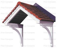 Ideas for front door porch canopy window awnings Front Door Awning, Front Door Canopy, Door Overhang, Window Awnings, Roof Window, Design Garage, Front Door Design, Roof Design, Backyard Canopy