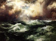 Seascape au clair de lune (2) - (Thomas Moran)