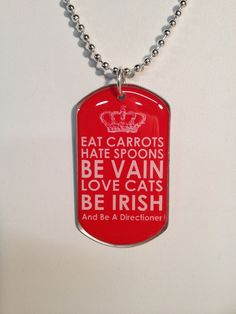 One Direction Dog tag on 24 silver plated ball chain by blythebags, $11.00. my daughter loves one direction and she was like i want this one!!!!!hahaha:)