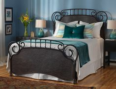 Coldwell: Wesley Allen beds are forged iron and hand crafted in California with several hand applied finish options. Each bed offers a distinctive look, feel, color and texture.