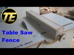 DIY - Make A Table Saw Fence For Homemade Table Saw - YouTube