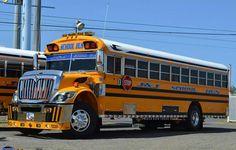 School Bus Camper, Old School Bus, Rv Bus, School Bus Driver, Bus Ride, School Buses, Jacked Up Trucks, New Trucks, Bus Humor