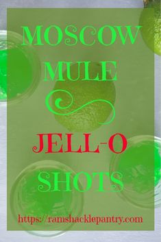 Jell-O shots are fun for parties and group events. This twist on the classic Moscow Mule can add a little pizazz to your party drinks! ramshacklepantry.com/moscow-mule-jell-o-shots  #jello #moscowmule #vodka #lime #party #shots via @ramshacklepantr