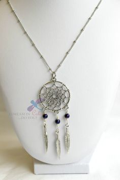 Items similar to Dream Catcher Necklace on Etsy Handmade Jewelry, Unique Jewelry, Handmade Gifts, Dream Catcher Necklace, Jewelry Accessories, Pendant Necklace, Colour, Trending Outfits, Silver