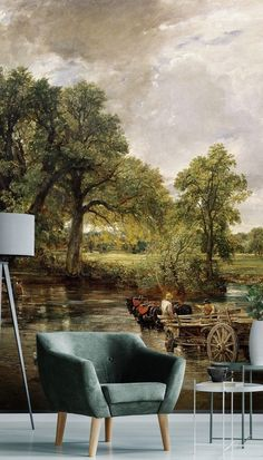 Custom-sized The Hay Wain mural by artist, John Constable. Wide choice of Bridgeman Art Library fine art options available.Wide choice of Bridgeman Art Library fine art options available. Creators of made-to-measure wallpaper murals, Wallsauce.com, has your wall covered. From dreamy woodland designs to bold print wallpaper, you'll discover thousands of designs to suit your style. Discover more from Wallsacue! #wallpaper #wallmural #livingroom #landscape #homedeco Wallpaper Murals, Landscape Wallpaper, Print Wallpaper, Photo Wallpaper, Panoramic Photography, Mural Wall Art, Bold Prints, Designer Wallpaper, Cozy House