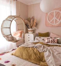 Bedroom Vibes 🌸 #homedecor #homesweethome #decorationideas #decorations #kitchendesign #kitchenremodel #kitchen #homeinspo4you #decorationggoals #decoracioninteriores #decorando #dailydecordose #decoração #lovequotes #lovestory #housedecoration #organizedhome #homeorganization #livingroomideas #livingroomdecor #babyroomdecor #babyroom #kidsroomideas #nurserydecor #glamour% Cute Bedroom Ideas, Cute Room Decor, Room Ideas Bedroom, Bedroom Decor, Cozy Bedroom, Bedroom Inspiration, Bedroom Swing Chair, Modern Bedroom, Chair Bed