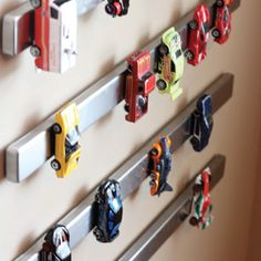 GENIUS Magnetic Car Storage Idea! http://www.keepingupwiththesouths.com/2012/10/pinterest-project-just-hangin-around.html