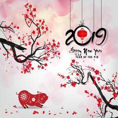 Frohes Neues Jahr 2019 Jahr des Schweins Chinese New, Happy, White, Pig PNG und Vecto . Happy Chinese New Year, Chinese New Year Party, Happy Lunar New Year, Happy New Year 2019, Happy Year, Cny Greetings, Lunar New Year Greetings, Pig Png, Happy New Year Banner