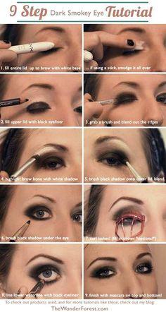 9 Step Dark Smokey Eye - Tutorial
