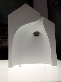 """The Shiro (white) objects are dissected architecture """"through the medium of three architectural models, the relationship between solid and void in architecture""""."""