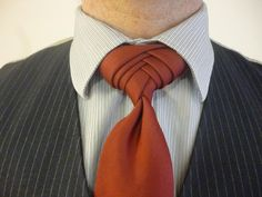 How to tie the Boutonniere Knot for your Necktie.  The biggest knot around.