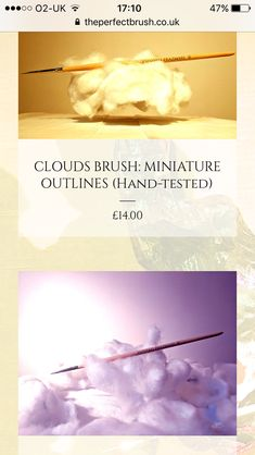 New batch of Clouds Brushes ready: choose from 3 types or collect them all at https://www.theperfectbrush.co.uk/shop